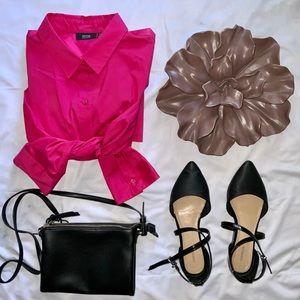 NWOT Pink APT 9 Button Down Shirt